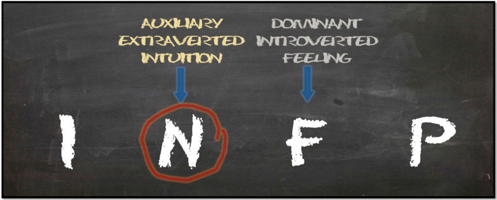 Auxiliary Extraverted Intuition INFP
